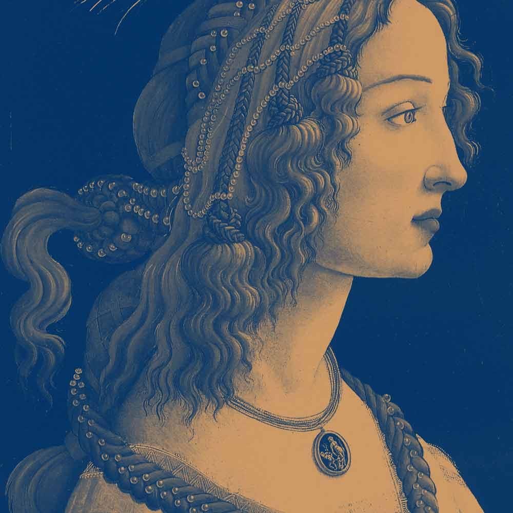 Simonetta Cattaneo ritratta dal Botticelli